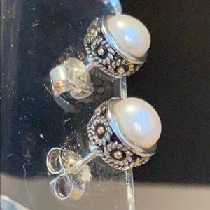 SS/14K/Pearl Earrings for Pierced Ears